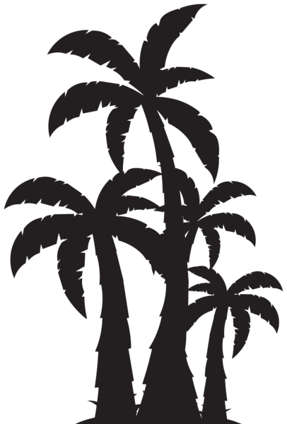 406x600 Palm Trees Silhouette Clip Art Image Gute Ideen Nr 2