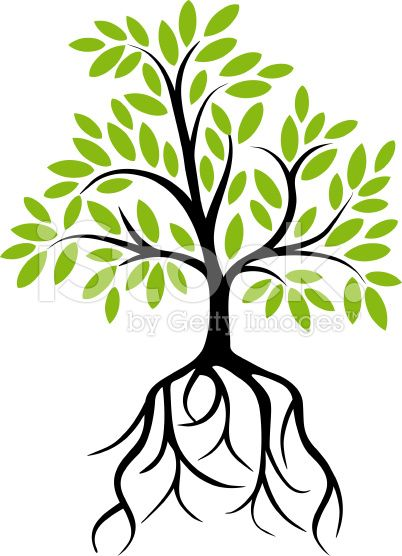 402x556 Decorative Tree With Roots Roots, Vector Art And Illustrations
