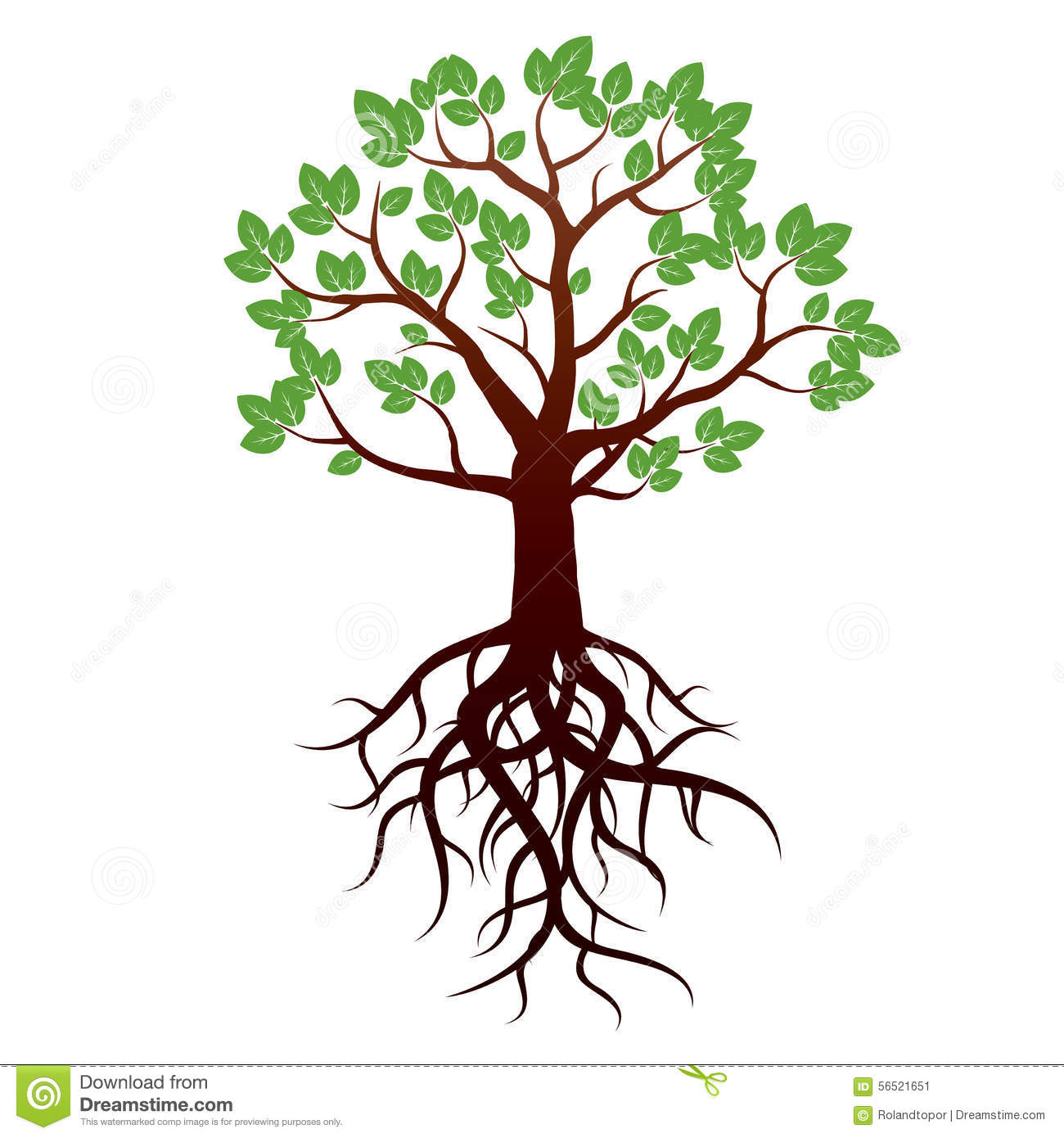 1300x1390 Drawing Of A Tree With Roots Best Tree Silhouette Ideas