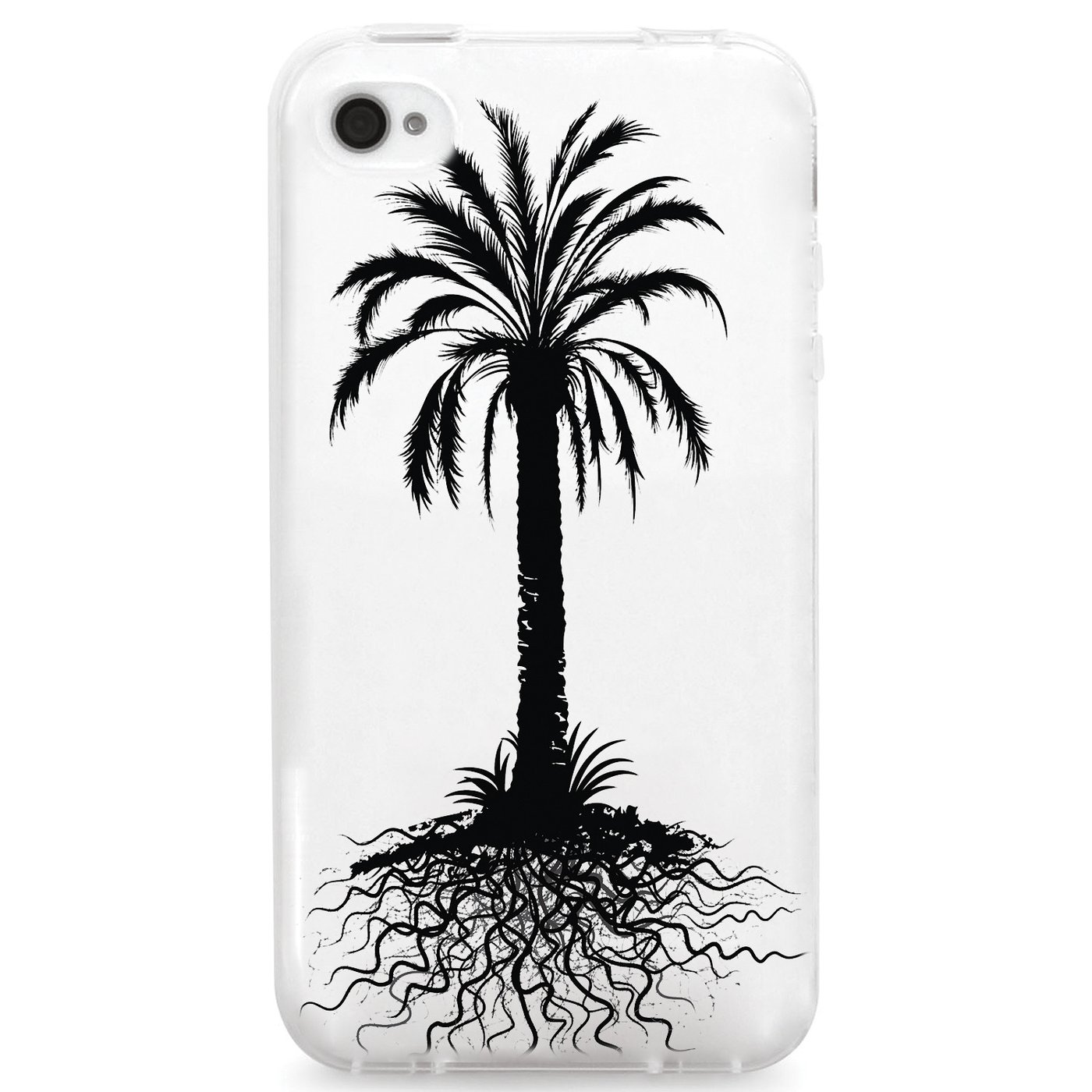 1400x1400 Uv Printed Tpu Case Floral Summer Palm Tree Roots Silhouette