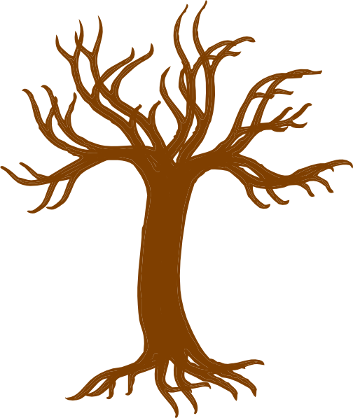 504x597 Bare Tree With Roots Clip Art
