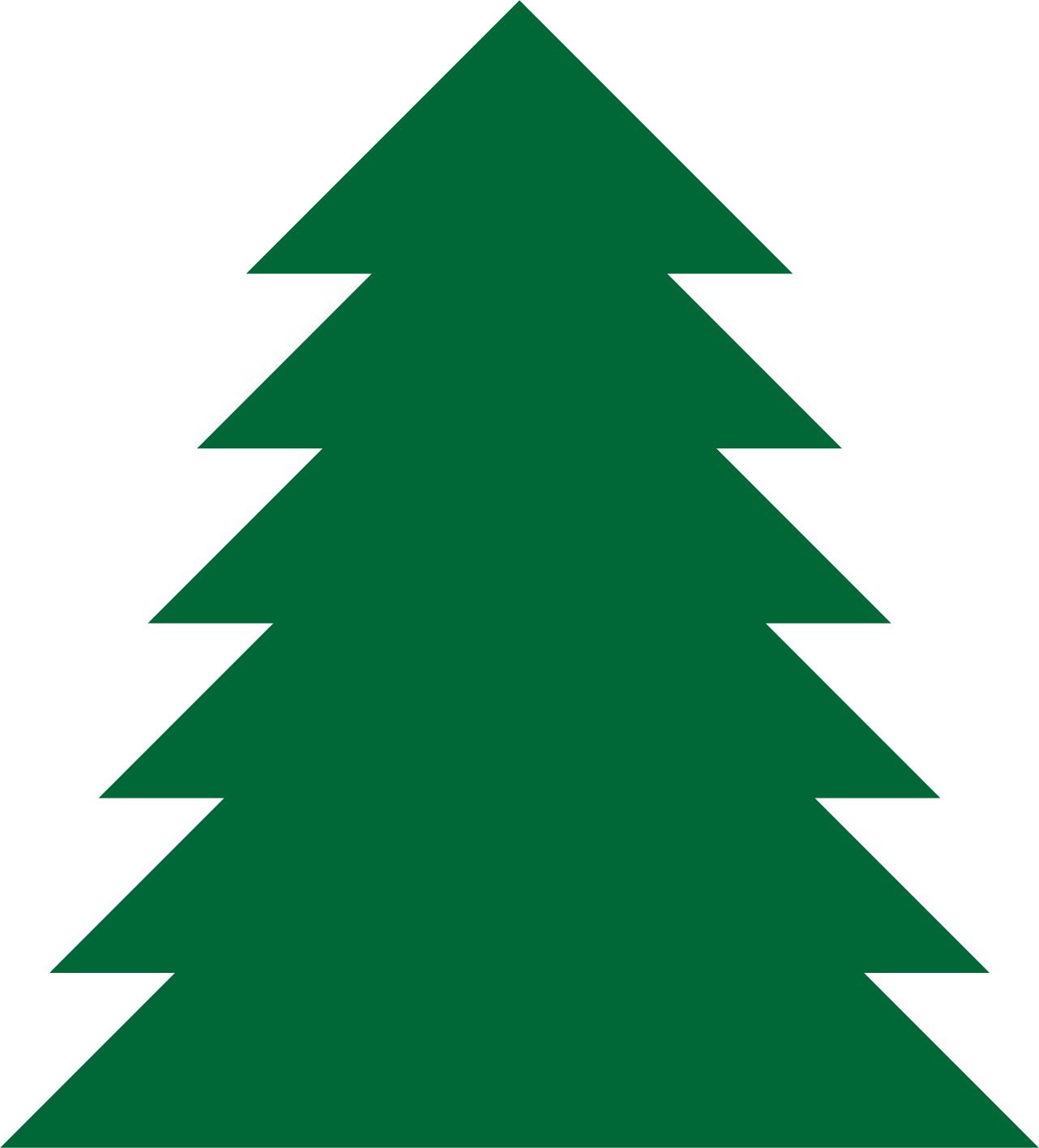 1282x1416 Pine Tree Clipart A Simple Green Tree