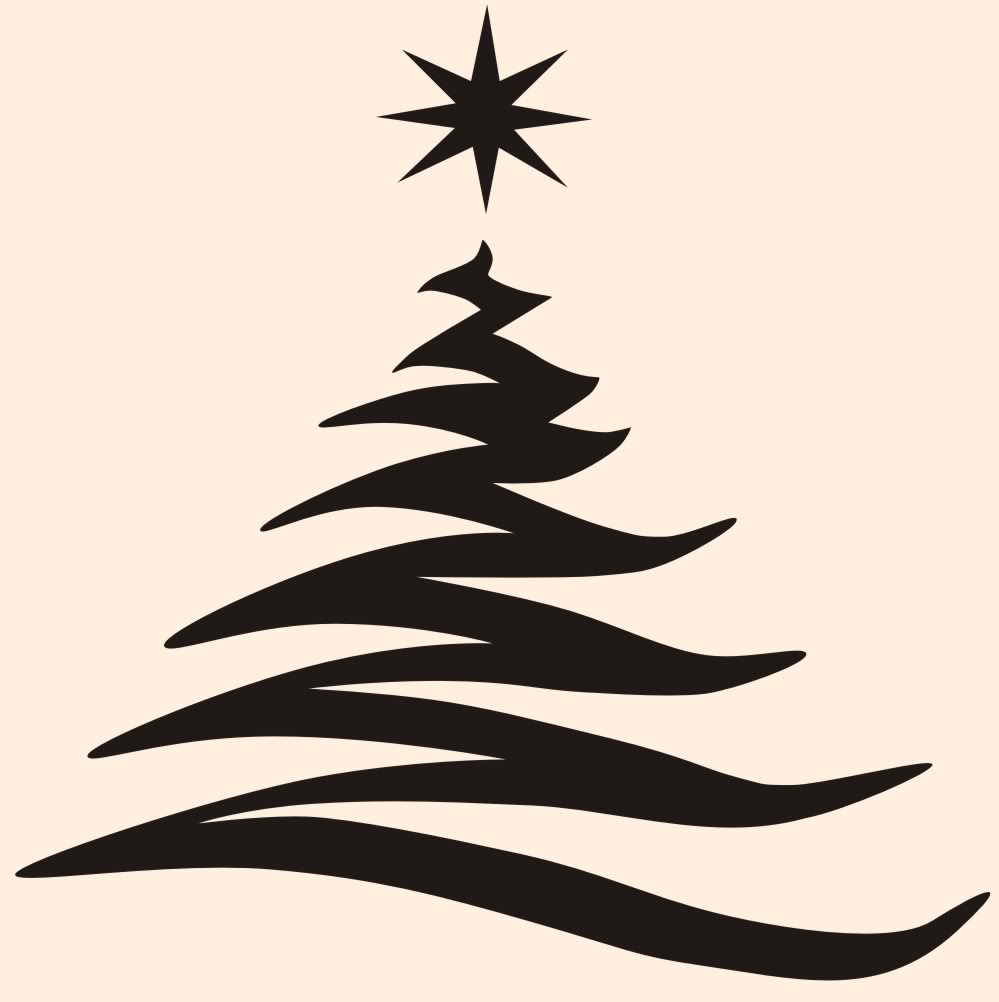 999x1002 Simple Christmas Tree Outline