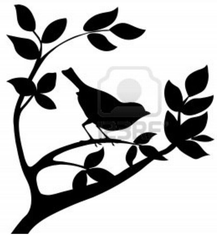 Tree Silhouette Template