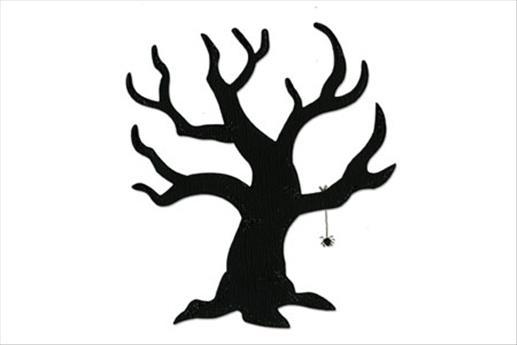 517x345 Halloween Tree Silhouette Pattern Template