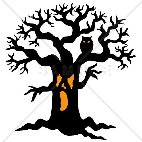 500x500 26 Images Of Spooky Tree Template