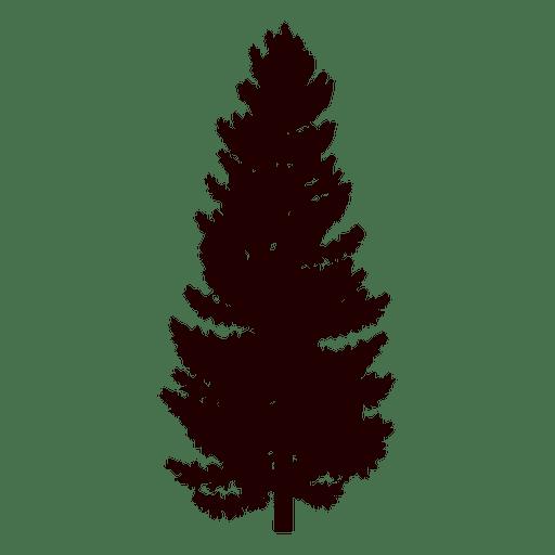 512x512 Black Pine Tree Silhouette