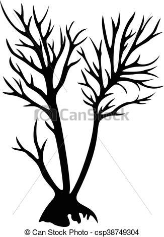 326x470 Decorative Tree Silhouette