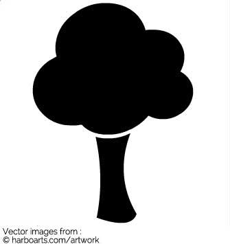 335x355 Download Cartoon Tree Silhouette
