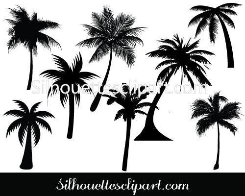 500x400 Palm Tree Silhouette Vector Perfect For Tropical Themed Graphic