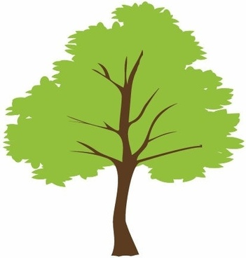 351x368 Tree Outline Free Vector Download (9,621 Free Vector)