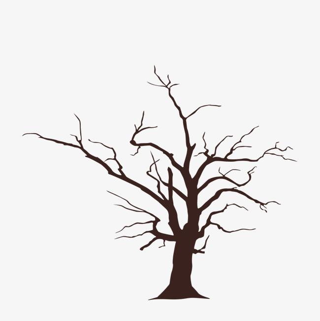 650x651 Vector Cartoon Hand Painted Tree Silhouette, Vector Diagram