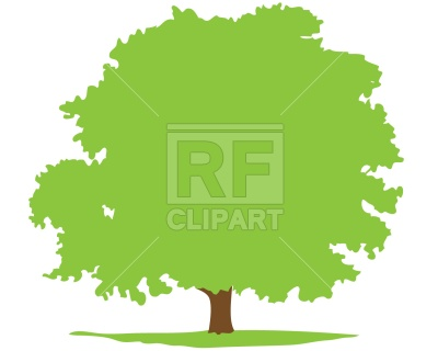400x320 Deciduous Tree Silhouette Royalty Free Vector Clip Art Image