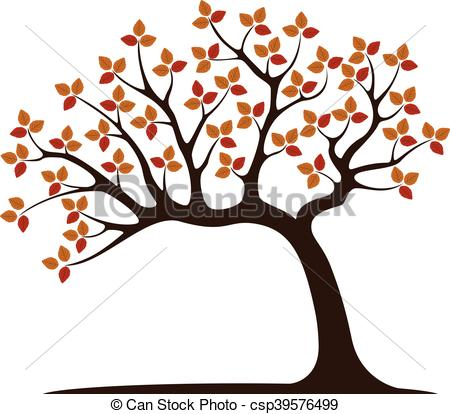 450x414 Decorative Brown Tree Silhouette