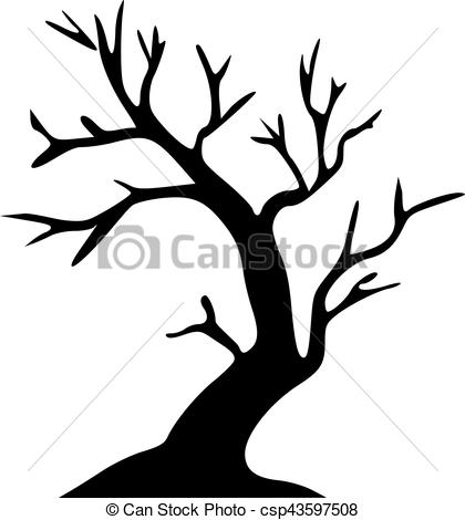 420x470 Leafless Tree Halloween Tree Vector Clipart