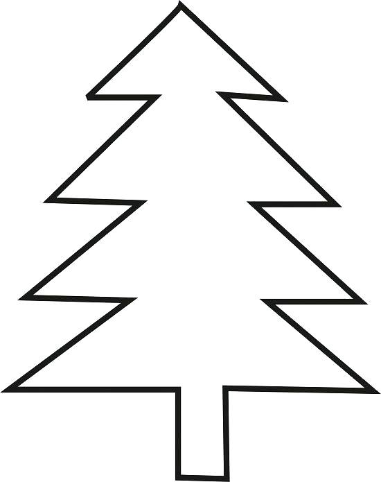550x695 Christmas Tree Outline Christmas Tree Silhouette Vector Art