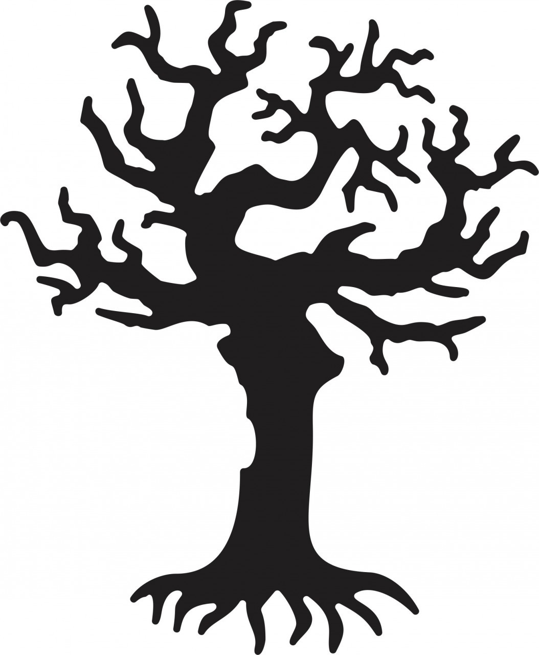 1054x1280 Creepy Trees Silhouettes