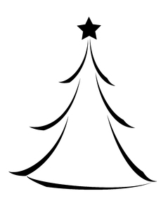 239x300 free christmas tree icon vector 116481 download christmas tree - Christmas Tree Black And White