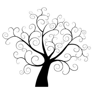 300x300 Free Clip Art Tree Silhouette Vector Tree Silhouette Image
