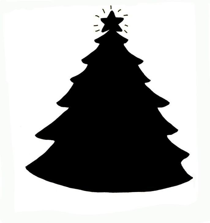 686x726 Christmas Tree Silhouette Clip Art Clipart Christmas Tree