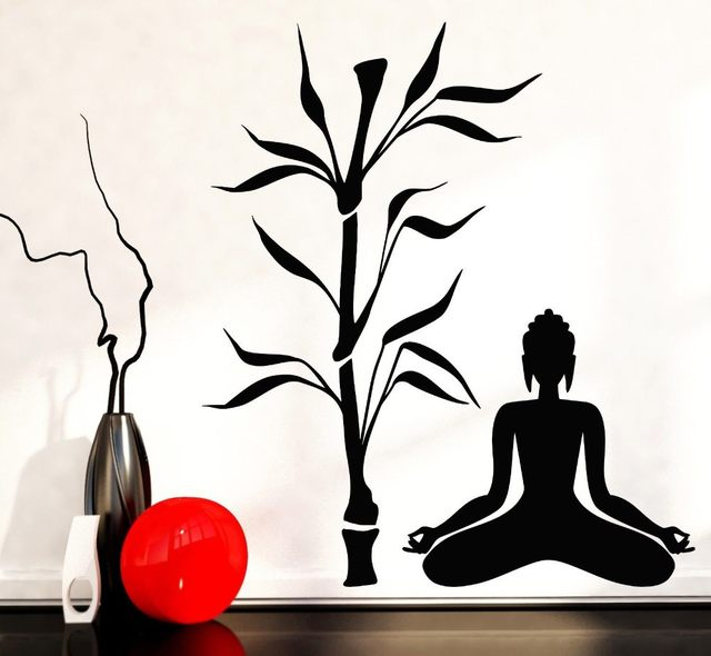 640x590 Online Shop Buddha Tree Blossom Yoga Vinyl Wall Decal Buddhism Sit
