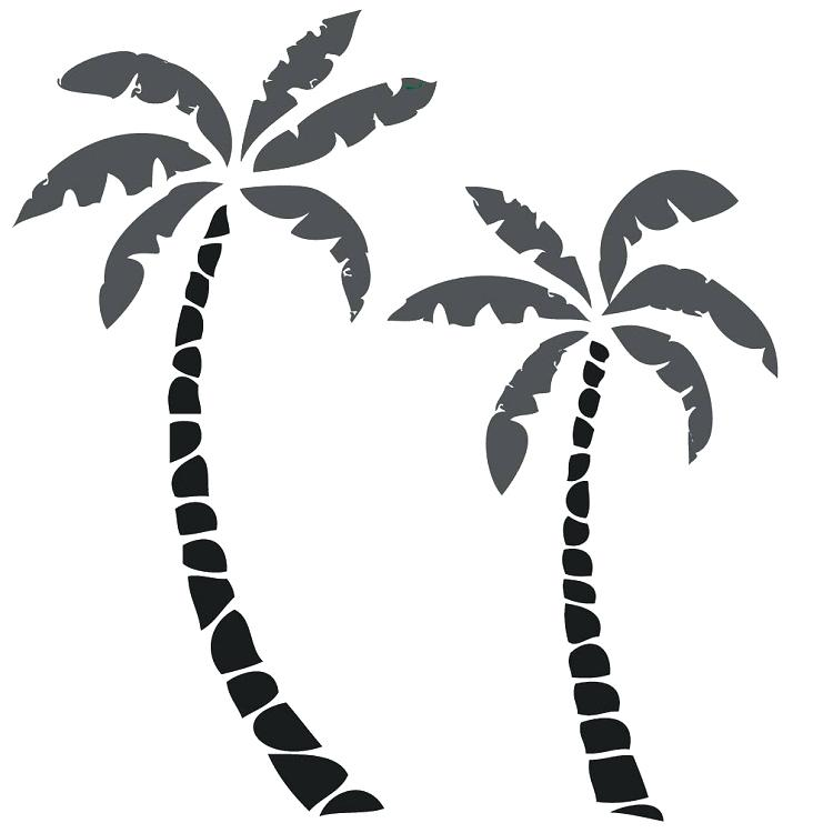750x750 Tree Silhouette Wall Decal And Paints Small Palm Tree Wall Decals