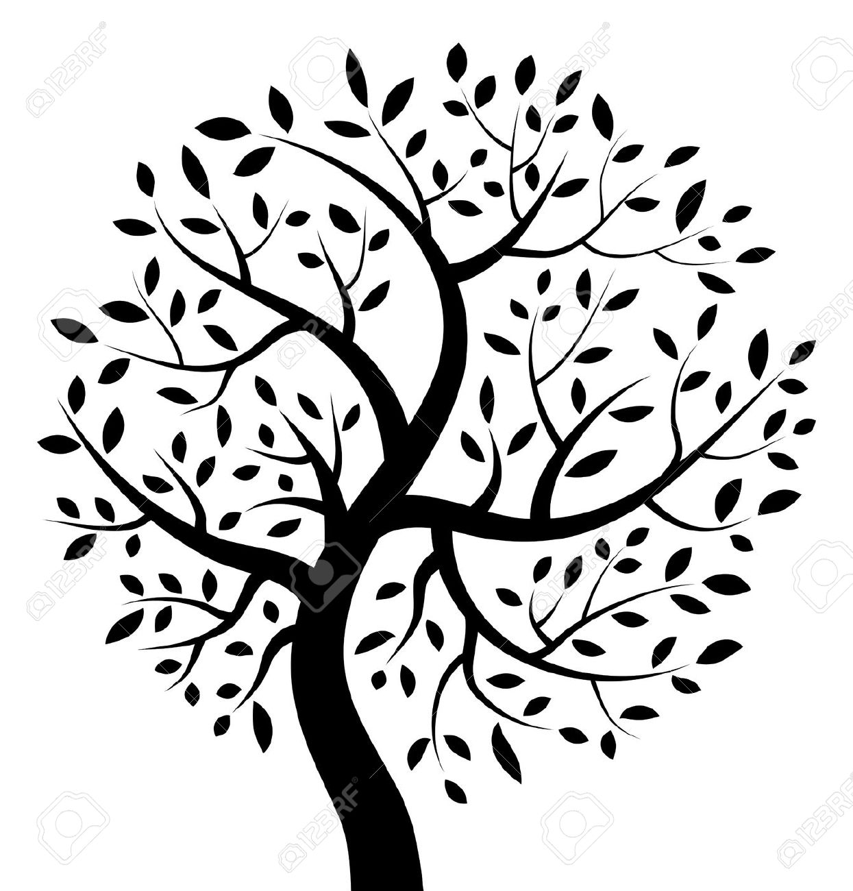1245x1300 Wall Decal Black And White Tree Of Life Clipart 1 Handcut