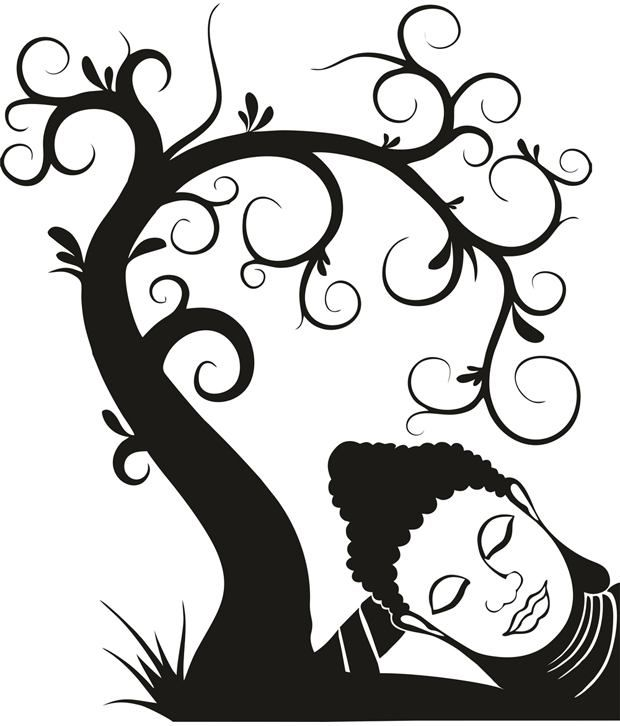 620x726 35% Off On Mesleep Relaxing Tree Wall Sticker On Snapdeal