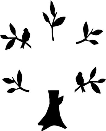 Tree Silhouette Wall Stickers at GetDrawings.com | Free for personal ...