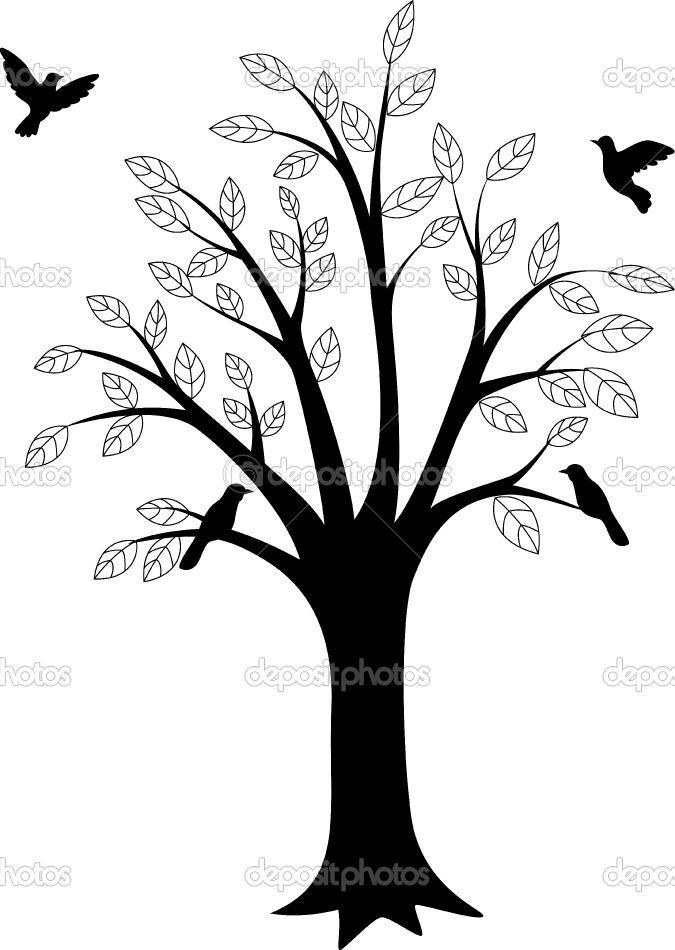 675x950 Bird Tree Silhouette