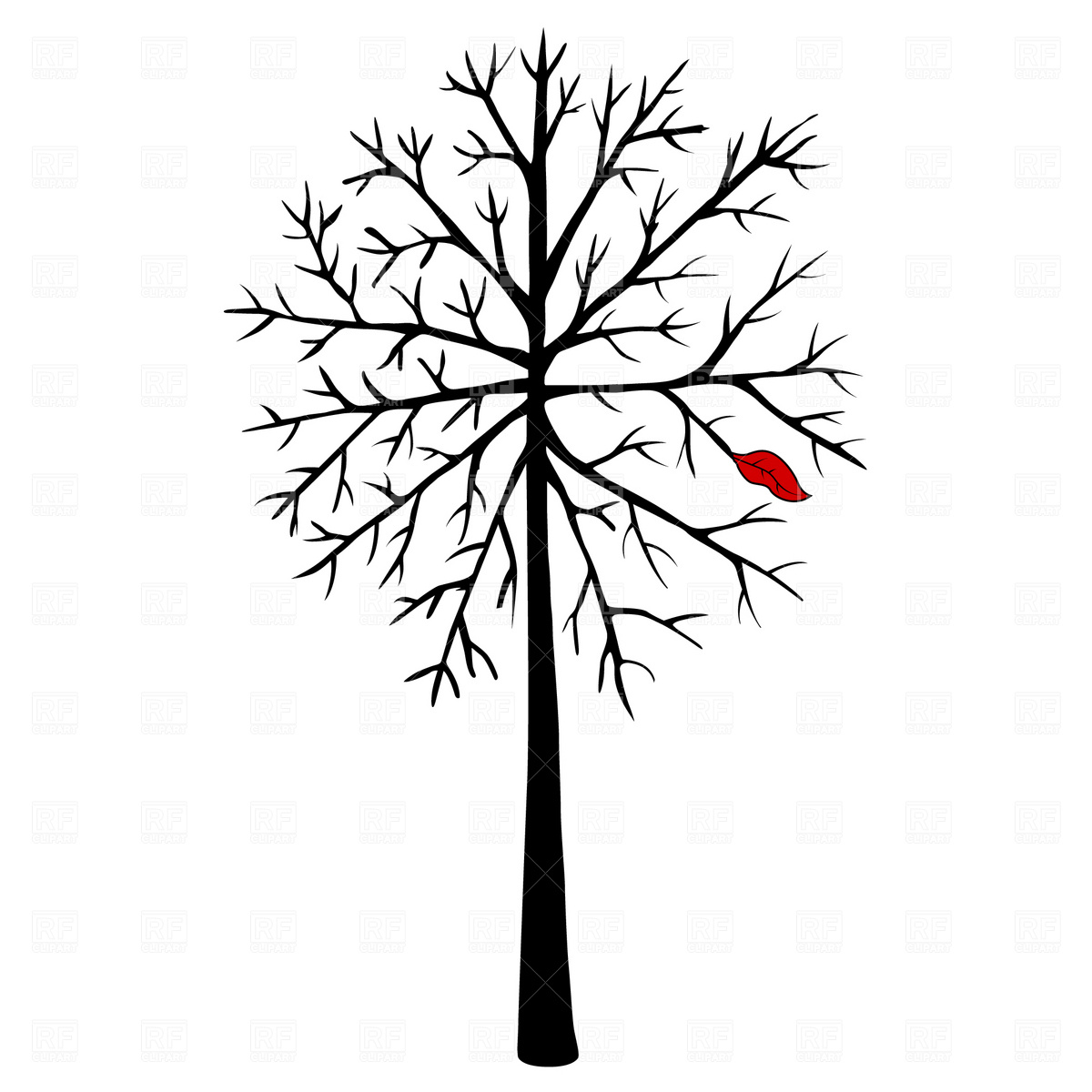 1200x1200 Bare Tree Royalty Free Vector Clip Art Image