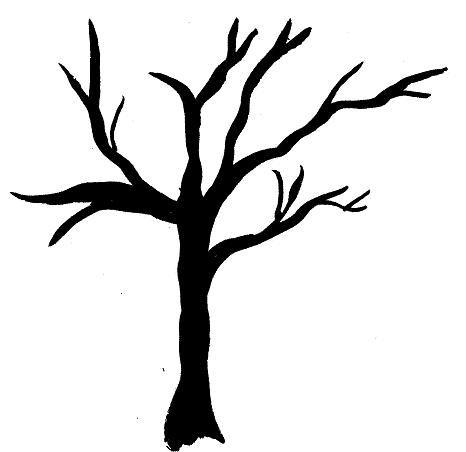466x452 Silhouette Trees 101 Clip Art