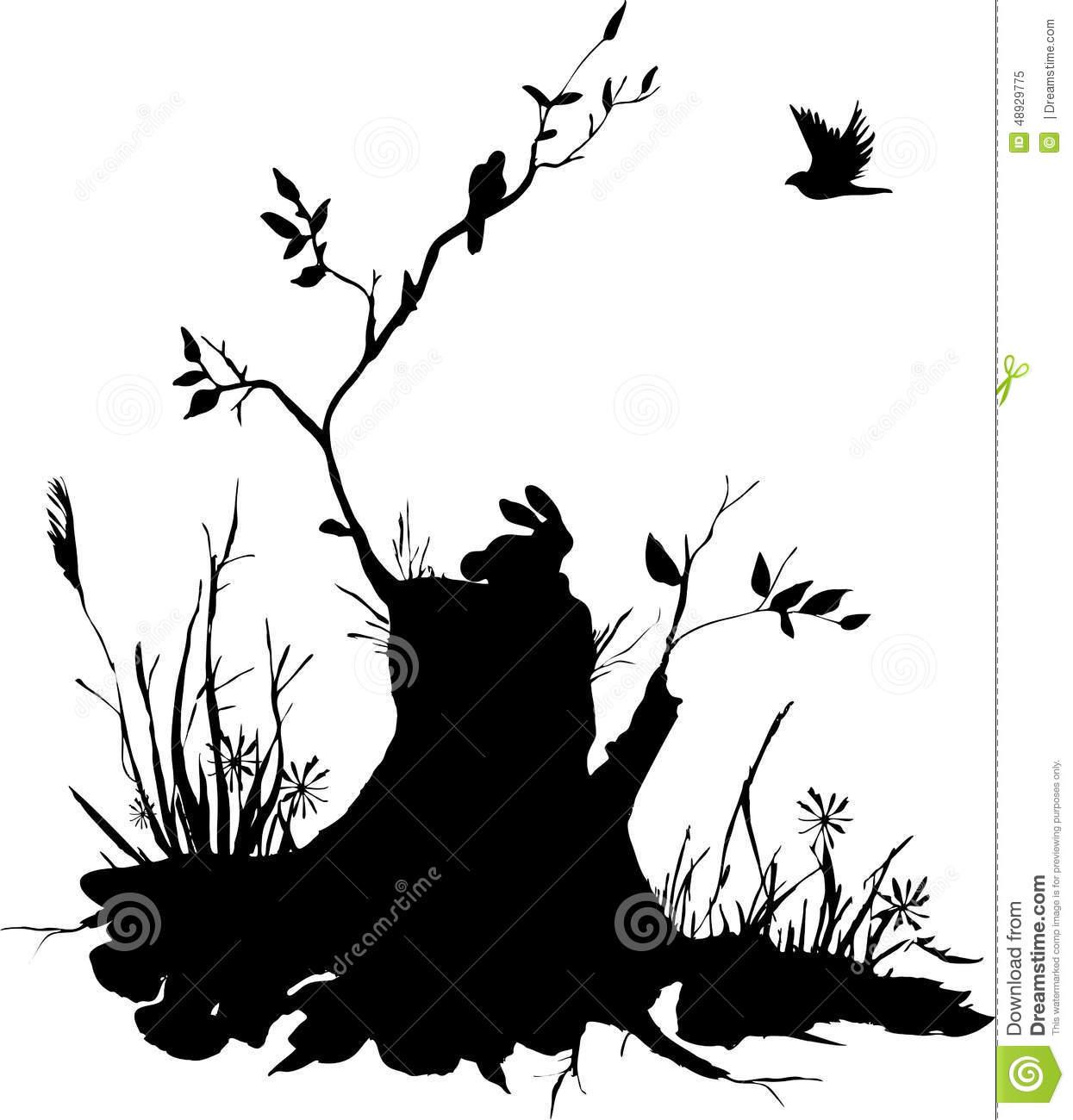 1245x1300 Tree Stump Silhouette Tree Stump Silhouette 5236 Interpixel
