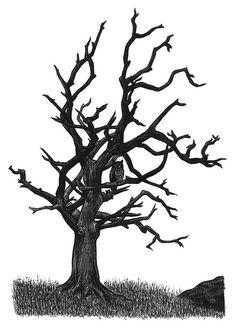 236x329 Drawn Dead Tree Tree Trunk