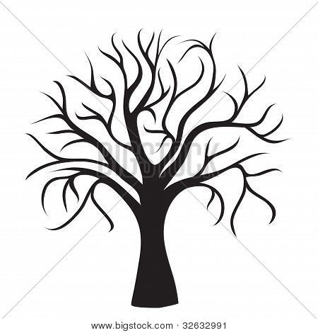 450x470 Tree trunk coloring page Tree Trunk With No Leaves Colouring