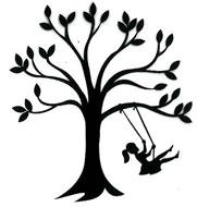181x190 Tree Swing, Girl [2012284] Scrap Fx, Chipboard Embellishments