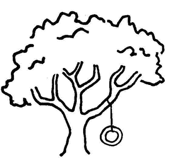 580x537 Tree Swing Clipart Black And White