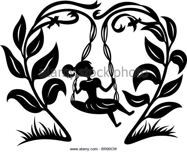 640x520 Young Girl On Tree Swing Black And White Stock Photos Amp Images