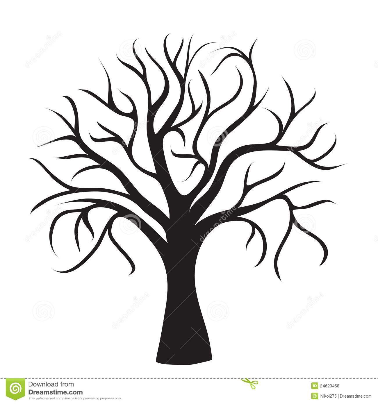 1300x1390 Tree No Branches Draw Designs Cricut, Silhouette