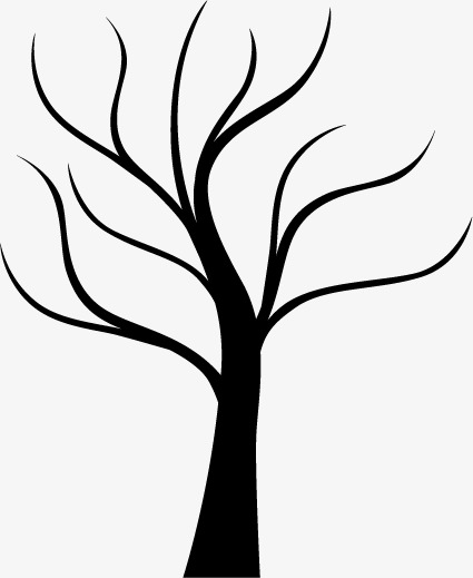 425x519 Trunk Silhouette, Trees, Black, Trunk Vector Png And Vector