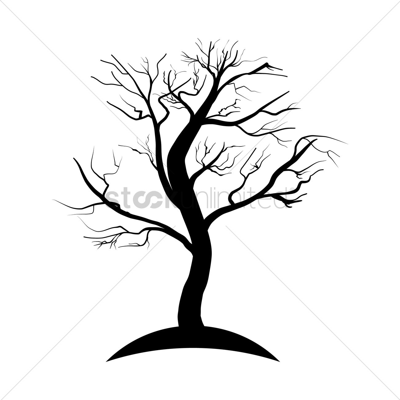 1300x1300 Dead Tree Silhouette Vector Image
