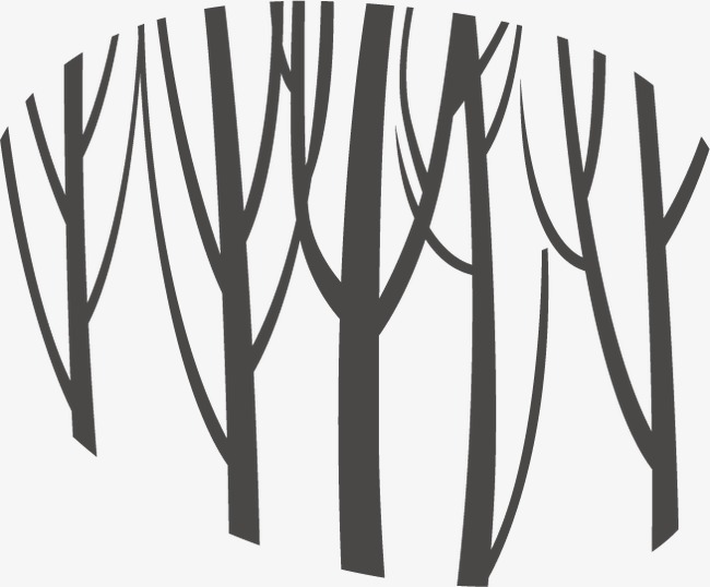 650x538 Forest, Black, Trunk Silhouette Png And Vector For Free Download