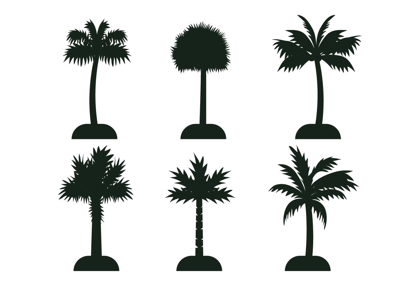 1400x980 Palmetto Tree Vector Silhouette