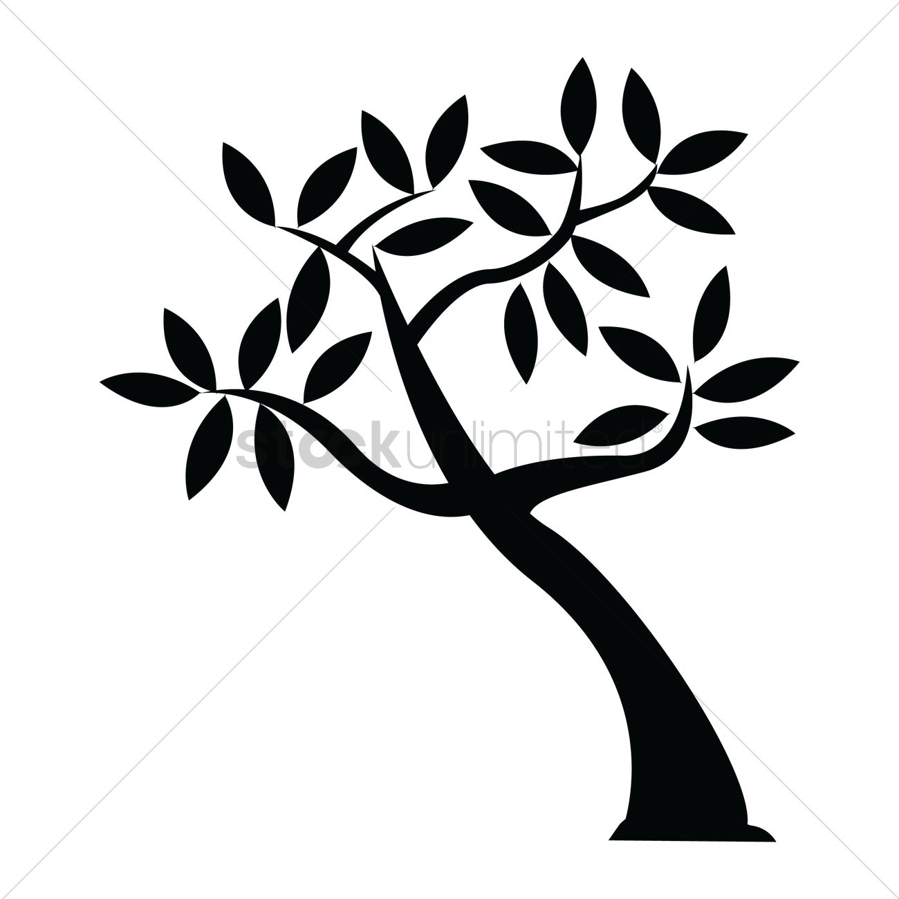 1300x1300 Silhouette Of Tree Vector Image