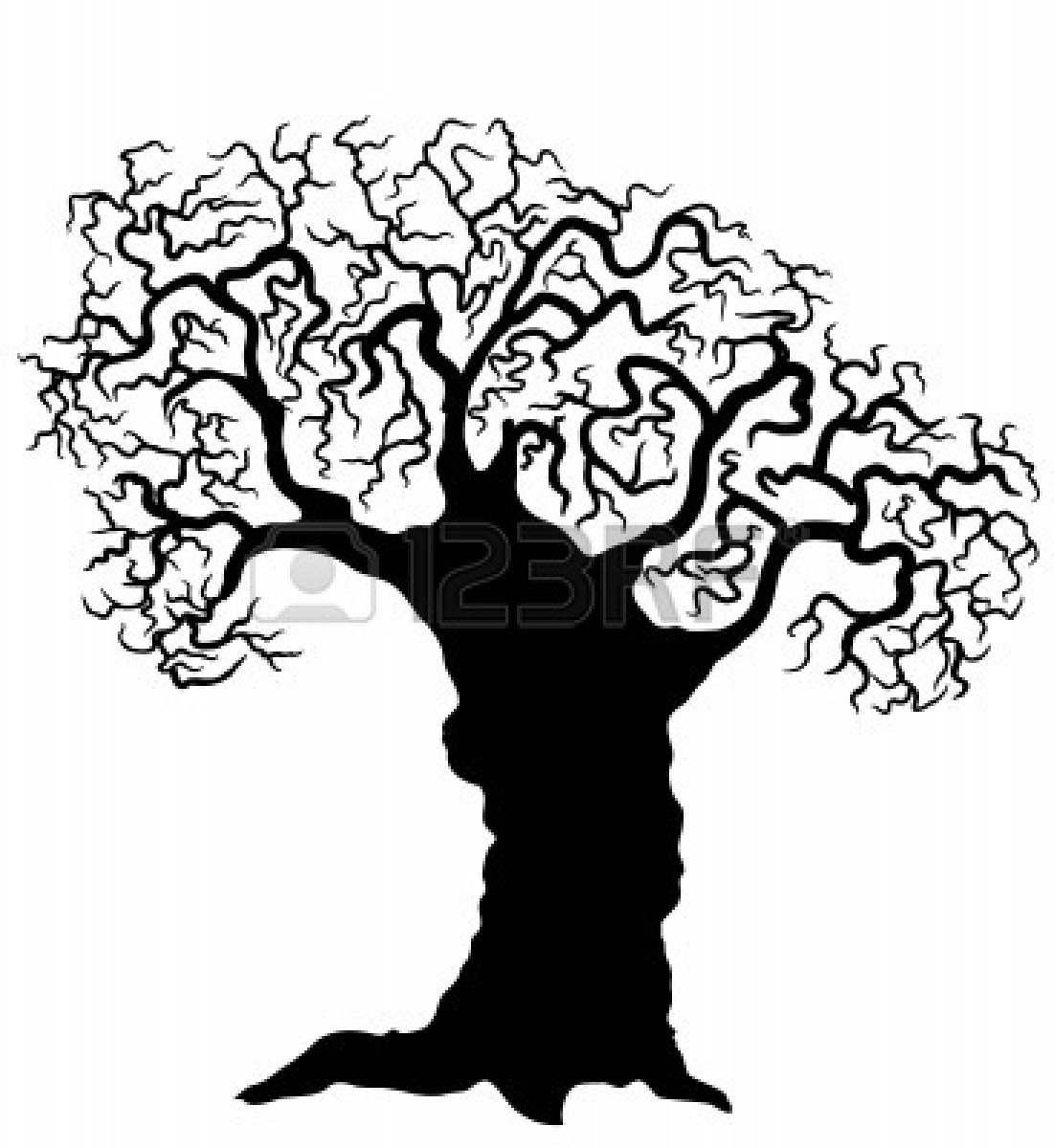 1101x1200 Tree.vector Black Silhouette Clipart Panda