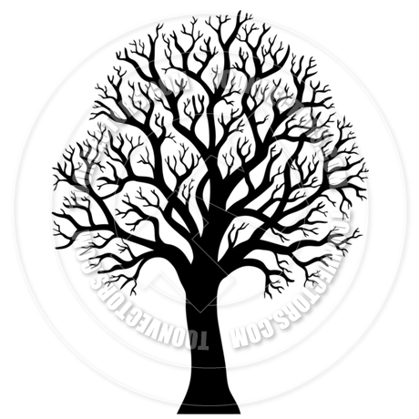 460x460 Cartoon Silhouette Of Tree Without Leaves By Clairev Toon