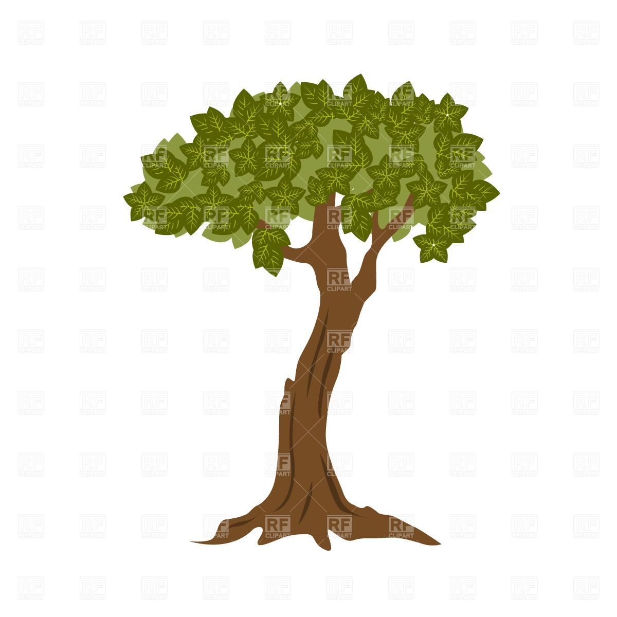 1200x1200 Hand Drawn Silhouette Tangled Tree With Roots Royalty Free Vector