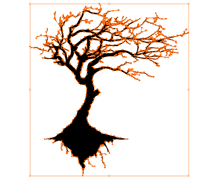 750x666 Oak Tree Silhouette With Roots