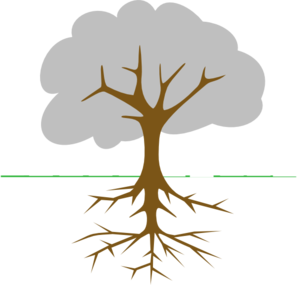 297x285 Tree With Roots Clip Art