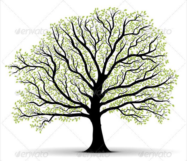 600x519 Tree Silhouettes
